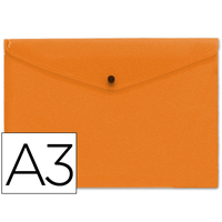 LIDERPAPEL POCHETTE A3 ORANGE TRANSPARENT