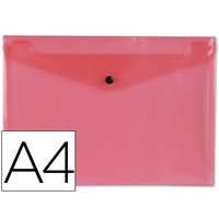 LIDERPAPEL POCHETTE A4  ROUGE TRANSPARENT