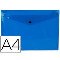 POCHETTE A4 BLEU FROSTY TRANSPARENT