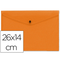 LIDERPAPEL POCHETTE 26x14cm ORANGE TRANSPARENT