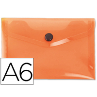 LIDERPAPEL POCHETTE A6 ORANGE TRANSPARENT