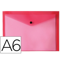 LIDERPAPEL POCHETTE A6 ROUGE TRANSPARENT