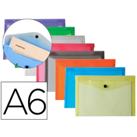 POCHETTE A6 ASSORTIS FROSTY TRANSPARENT PACK DE 12