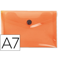 LIDERPAPEL POCHETTE A7 ORANGE TRANSPARENT