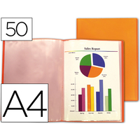 LIDERPAPEL TRANSLUCIDE 100 VUES A4 ORANGE