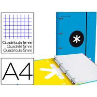 ANTARTIK A4 4 ANNEAUX 25MM BLEU
