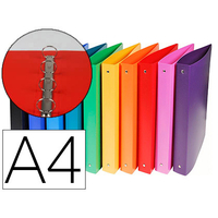EXACOMPTA POLYPRO A4 PACK DE 20 ASSORTIS ANNEAUX 15mm