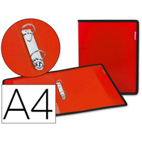 LIDERPAPEL POLYPRO A4 ROUGE ANNEAUX 25mm