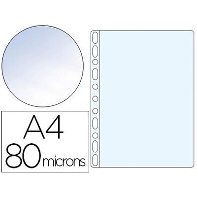 POCHETTES A4 80 MICRONS LISSE CRISTAL PACK DE 100