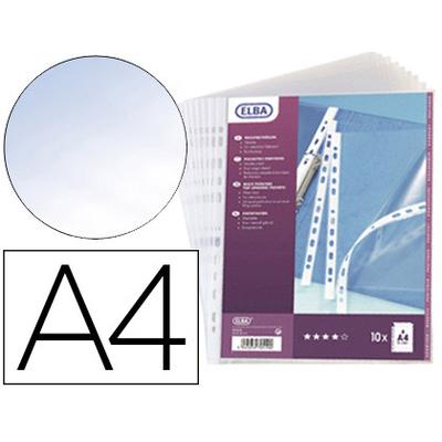 POCHETTES A4 100 MICRONS PVC SM3 LISSE PACK DE 10