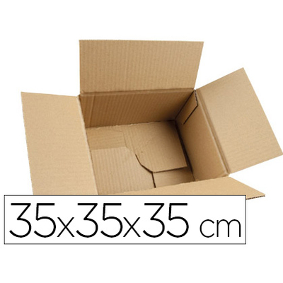 BOITES DOUBLE CANNELURE 35X35X35CM PACK DE 10