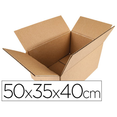 BOITES DOUBLE CANNELURE 50X35X40CM PACK DE 10