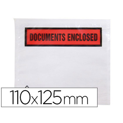"POCHETTES ""DOCUMENTS ENCLOSED"" 113X100MM"