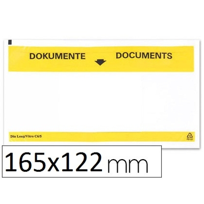 ENVELOPPES PORTE-DOCUMENTS 165X122MM