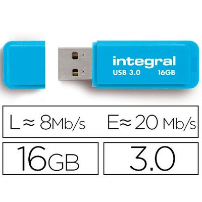 CLÉ USB NEON 3.0 16GB BLEU