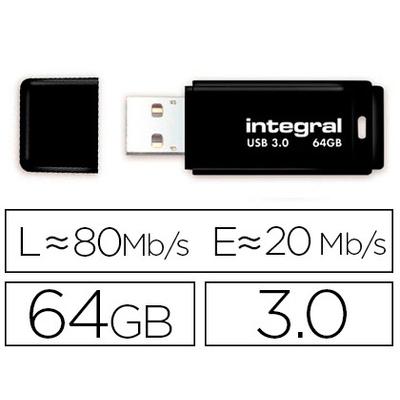 CLÉ USB NEON 3.0 64GB NOIR