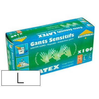 ROZENBAL GANTS EN LATEX PACK DE 100 TAILLE L