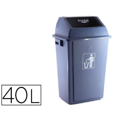 POUBELLE 40L PLASTIQUE AVEC COUVERCLE