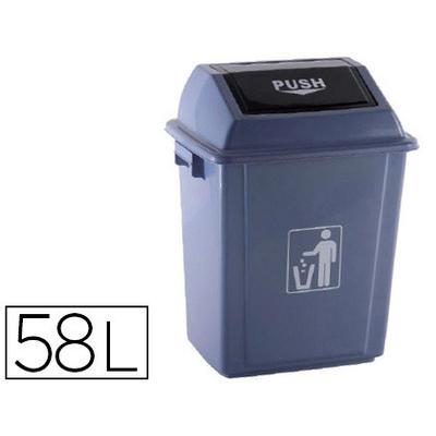 POUBELLE 58L PLASTIQUE AVEC COUVERCLE