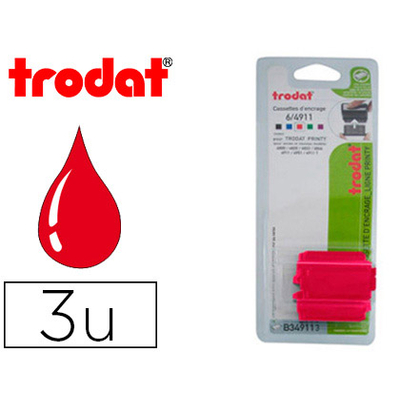 RECHARGE PRINTY 4911 ROUGE