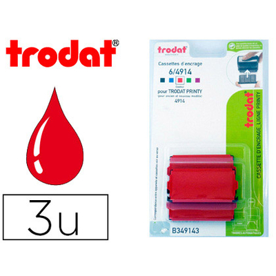 RECHARGE PRINTY 4914 ROUGE