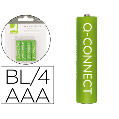 Q-CONNECT PILE AAA/LR03 PACK DE 4