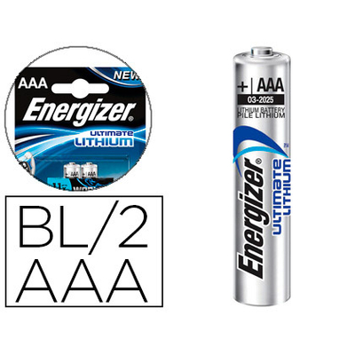 ENERGIZER PILES LITHIUM ULTIMATE AAA/LR03 PACK DE 2