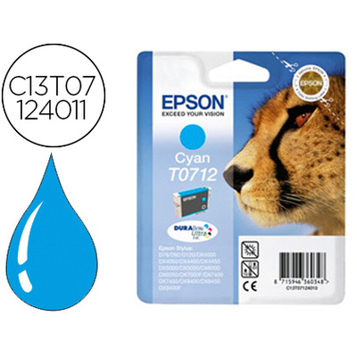 EPSON GUÉPARD T0712 CYAN