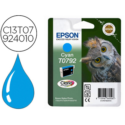 EPSON CHOUETTE T0792 CYAN