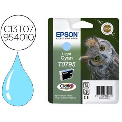EPSON CHOUETTE T0795 CYAN CLAIR