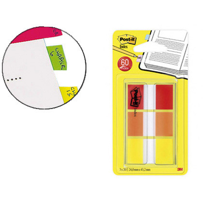 MARQUE-PAGES STANDARD INDEX ROUGE ORANGE JAUNE
