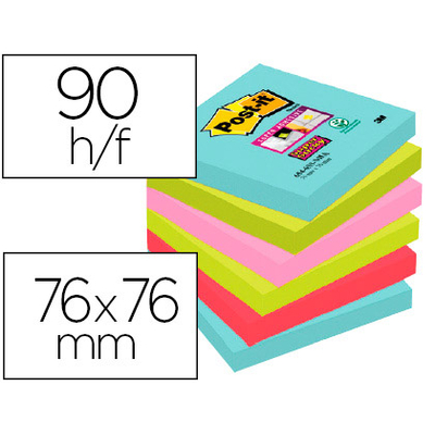 SUPER STICKY MIAMI 6 BLOCS 76X76MM