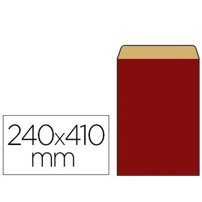POCHETTE KRAFT ROUGE 27X7X41CM