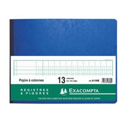 REGISTRE COMPTABLE 13 COLONNES SUR 1 PAGE 25x32cm
