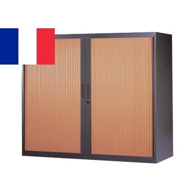 CORPS ANTHRACITE RIDEAUX MERISIER ARMOIRE BASSE