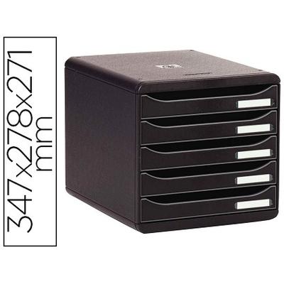 BLOC BIG BOX PLUS 5 TIROIRS ECOBLACK NOIR