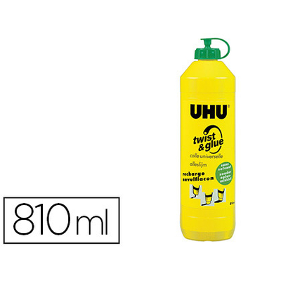 UHU TWIST & GLUE RECHARGE 810ML SANS SOLVANT
