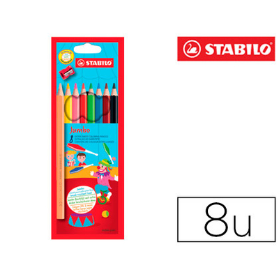 CRAYONS JUMBO PACK DE 8 + 1 TAILLE-CRAYONS
