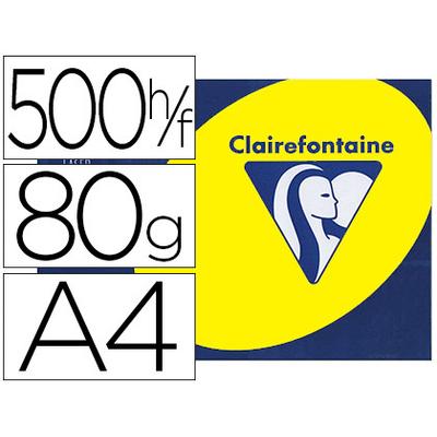 CLAIREFONTAINE TROPHÉE FLUORESCENT JAUNE A4 80G