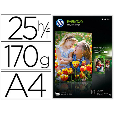 BRILLANT SEMI-GLACÉ HP EVERYDAY A4 170G