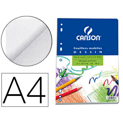 CANSON A4 PERFORÉS PACK DE 100 FEUILLETS A DESSIN