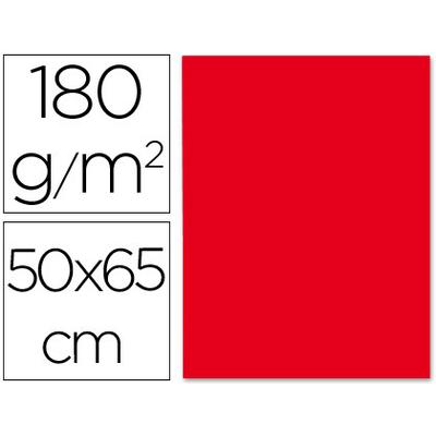CARTONNÉ 50X65CM 180G ROUGE