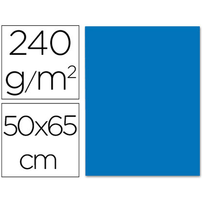 CARTONNÉ 50X65CM 240G BLEU