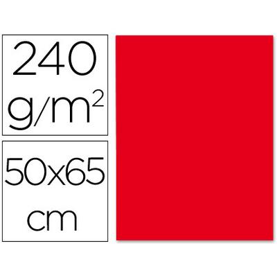 CARTONNÉ 50X65CM 240G ROUGE