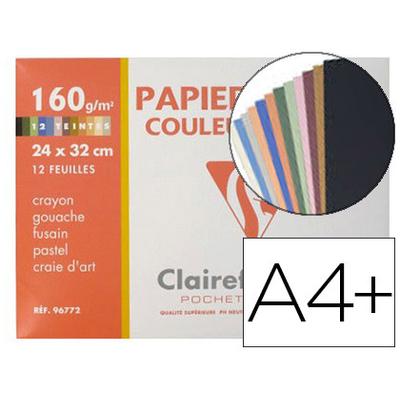 DESSIN COULEUR A4+ 160G ASSORTIS PASTELS PACK DE 12