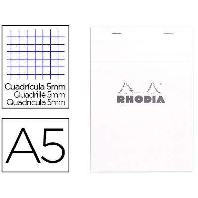 BLOC AGRAFÉ BLANC A5 RÉGLURE 5x5