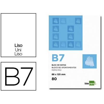 BLOC AGRAFÉ BLANC UNI B7 60G