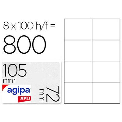 AGIPA ÉTIQUETTES COINS DROITS 105X72MM