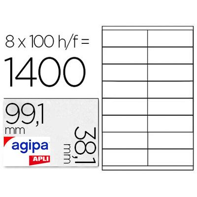 AGIPA ÉTIQUETTES COINS ARRONDIS 99.1X38.1MM