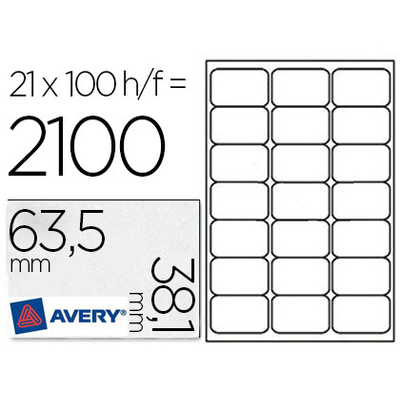 AVERY ÉTIQUETTES 63.5X38.1MM